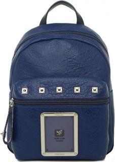 Синий рюкзак с металлическим декором Piero Guidi