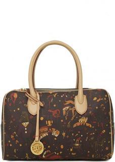 Коричневая сумка со съемным плечевым ремнем Piero Guidi