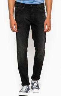 Черные зауженные джинсы с пятью карманами Hilfiger Denim