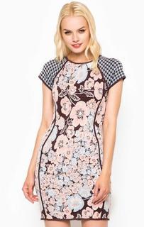 Разноцветное облегающее платье из вискозы Juicy Couture
