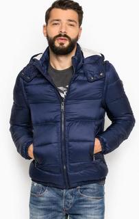 Синяя куртка со съемными рукавами Guess