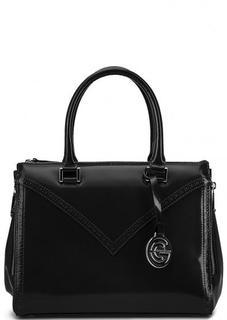 Кожаная сумка с короткими ручками и дополнительным плечевым ремнем Gianni Conti