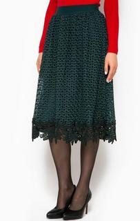 Ажурная бирюзовая юбка Pinko