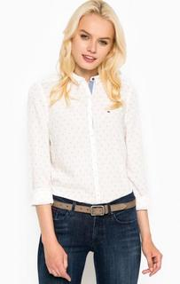 Рубашка из лиоцелла и вискозы с длинным рукавом Hilfiger Denim