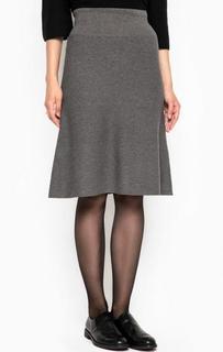 Серая юбка из вискозы Marc Opolo