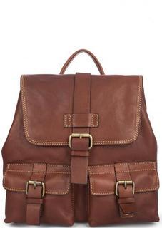 Кожаный рюкзак с откидным клапаном Gianni Conti