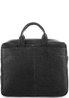 Вместительная кожаная сумка с отделение для ноутбука Bruno Rossi