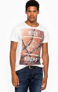Хлопковая футболка с круглым вырезом Tom Tailor Denim