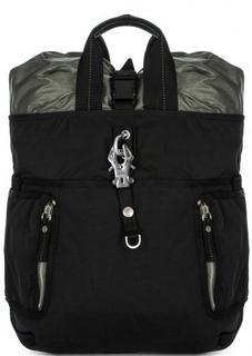 Черный текстильный рюкзак с двумя ручками George Gina & Lucy