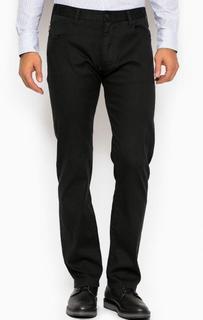 Зауженные черные брюки из хлопка Armani Jeans