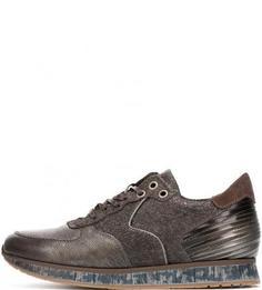 Кожаные кроссовки на шнуровке Mjus