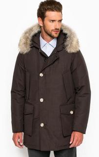 Зимний пуховик со съемным мехом Woolrich