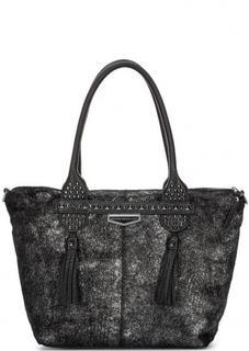 Кожаная сумка с искусственным мехом George Gina & Lucy