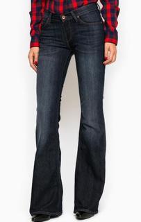 Темно-синие джинсы клеш Lee