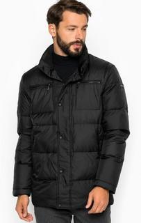 Черная куртка на молнии и кнопках Lagerfeld