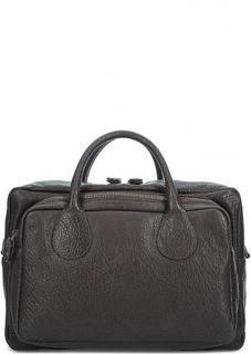 Кожаная сумка с одним отделом Bruno Rossi