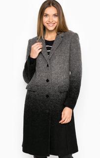 Демисезонное пальто из шерсти и полиэстера Armani Jeans