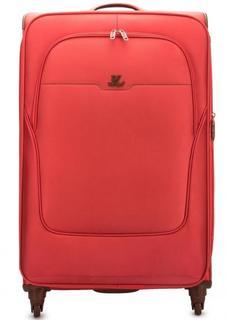 Коралловый текстильный чемодан на колесах Verage