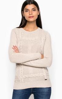 Однотонный свитер из шерсти и вискозы Barbour