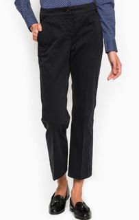 Черные укороченные хлопковые брюки Pennyblack