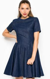 Джинсовое платье средней длины с пышной юбкой Miss Sixty