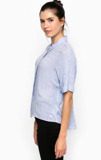Блуза из вискозы прямого кроя Tom Tailor Denim