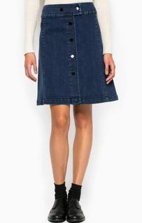 Джинсовая юбка на кнопках Pennyblack