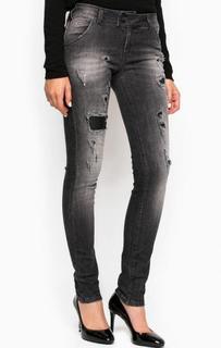 Зауженные рваные джинсы с высокой посадкой MET