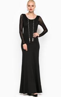 Длинное платье с глубоким вырезом на спине Relish