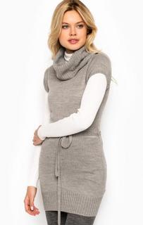 Удлиненный свитер с поясом Alcott