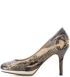 Туфли из искусственной кожи с выделкой под рептилию Menbur