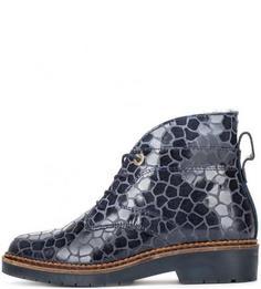 Утепленные кожаные ботинки Nobrand