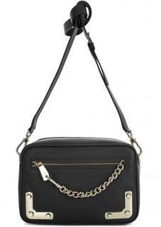Маленькая кожаная сумка с металлическим декором Furla