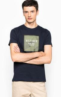 Хлопковая футболка с контрастным принтом Tommy Hilfiger