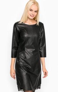 Черное платье с кружевными вставками Silvian Heach