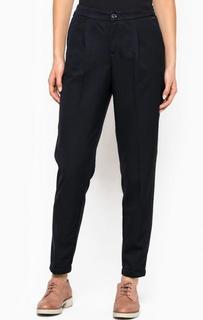 Зауженные синие брюки из полиэстера и вискозы Tom Tailor Denim