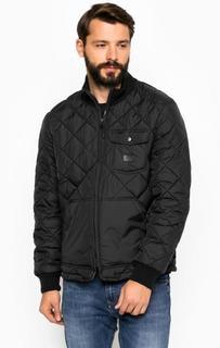 Черная стеганная куртка на молнии Lee