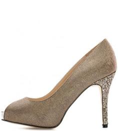 Туфли из текстиля на каблуке и платформе Menbur