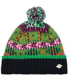 Разноцветная шапка из акрила и нейлона Maison Scotch
