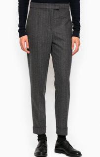 Серые зауженные брюки из шерсти и полиамида Pennyblack