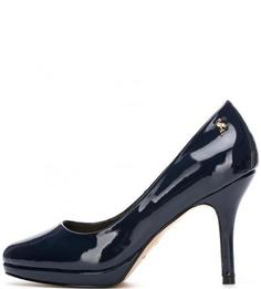 Синие лаковые туфли из искусственной кожи Menbur