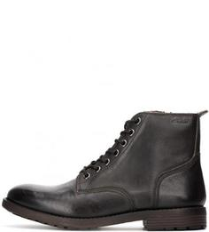 Кожаные ботинки на молнии и шнуровке Clarks
