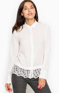 Блуза на пуговицах с кружевной вставкой River Woods