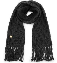 Вязаный шарф из шерсти и акрила с бахромой R.Mountain