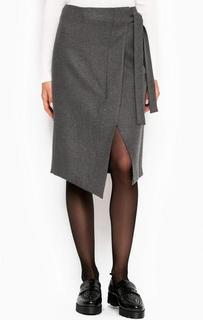 Серая юбка асимметричного кроя Drykorn