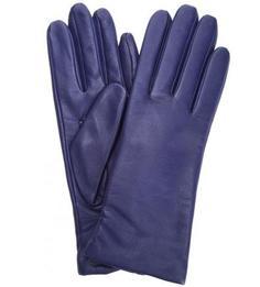 Кожаные синие перчатки Eleganzza