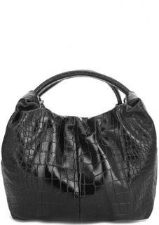 Кожаная сумка с короткими ручками Bruno Rossi