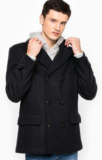 Темно-синее пальто из шерсти Tommy Hilfiger