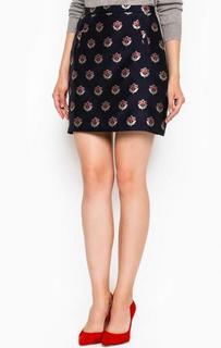 Короткая синяя юбка Sugarhill Boutique