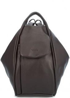 Темно-коричневая сумка-рюкзак из натуральной кожи Bruno Rossi